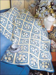 Blue Ice Afghan Crochet Pattern (free but membership required)