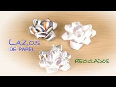 ▶ Lazo para Regalos de Papel Reciclado -- Facil y Gratis - YouTube
