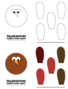 Thanksgiving Kids Crafts with Free Printables