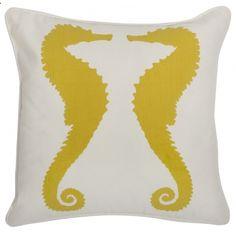 Seahorse pillow.