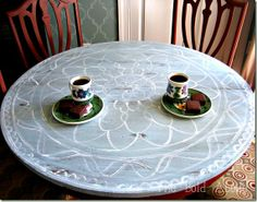 Hand Painted Breakfast Table