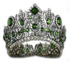 Emerald tiara of Empress Marie Therese of France.