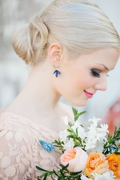 classic #chignon - photo by http://www.loragradyphotography.com/ - http://ruffledblog.com/georgia-peach-wedding-inspiration/