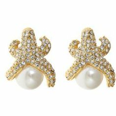 Need for summer!!!!  The classic Fornash starfish earring is now accented with a tiny pearl in the Pearl Starfish earrings. $38 #fornash