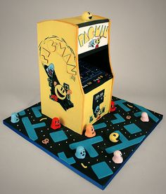 galleries, charms, pac man, cakes, video games, pacman cake, arcade games, pacman arcad, game cake