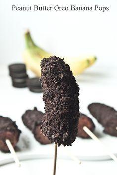Peanut butter oreo banana pops