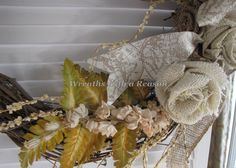 Ribbon detail on #grapevine #wreath  www.facebook.com/wreathswithareason