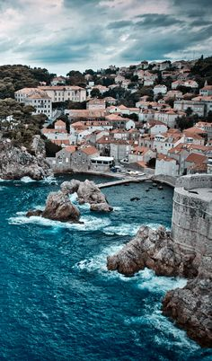 Adriatic Sea hitting the Croatian coast