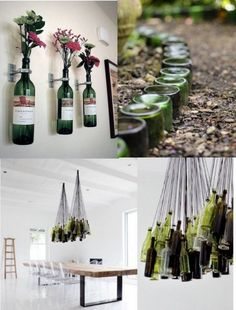 Ideas para decorar con viejas botellas - http://www.decorationtrend.com/bedroom/ideas-para-decorar-con-viejas-botellas/