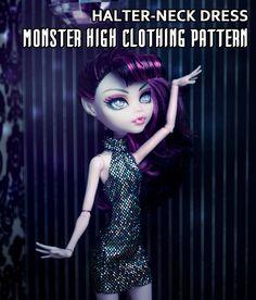 MONSTER HIGH Clothing Pattern  Halterneck Dress