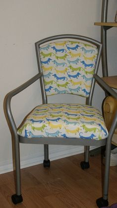 A chair I recovered. Cross-posted from my DIY done board!