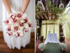 Orquídea e rosas