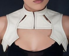 Futuristic Bolero cream custom size and color by VENATRIXDESIGNS, $264.00