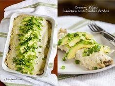 Creamy Paleo Chicken Enchiladas Verdes   Paleo Spirit
