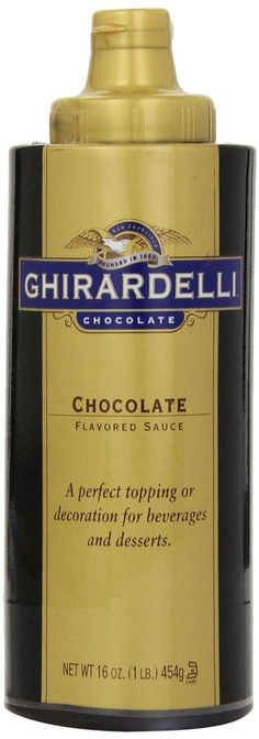 GHIRARDELLI CHOCOLATE SAUCES $7.95 TOTAL! PICK UP OR CULINART WILL SHIP FREE WORLDWIDE-AFFORDABLE DELICIOUSNESS! BUY HERE: http://stores.shopculinart.com/sauces/
