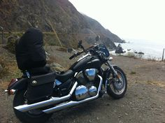 Honda VTX 1300c at Big Sur.  I like a well placed concho.