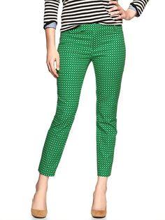 Dotty green cropped pants