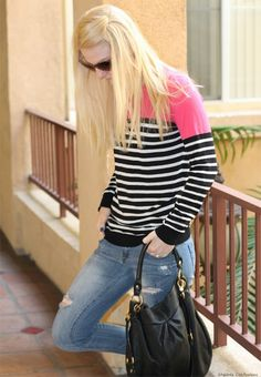 Stylish Outfit: Stripes