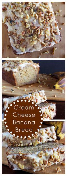 Cream Cheese Banana Bread chees banana, cream cheese banana bread, banana cheesecake