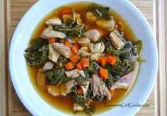 Gourmet Girl Cooks: Simple Chicken Soup w/ Baby Kale - Only 4 Ingredients to Fab