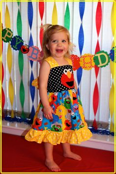 Elmo Birthday Sesame Street dress