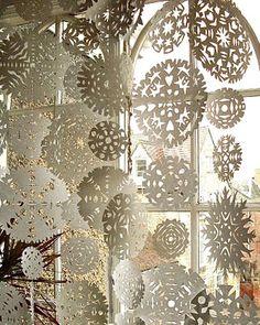 Snowflake Garlands....beautiful!