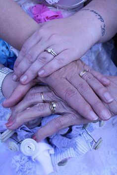 Honor the generations with a multi-generational ring photo