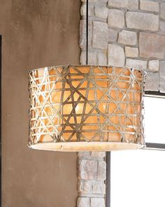 """Alita"" Basketweave Lights at Horchow."