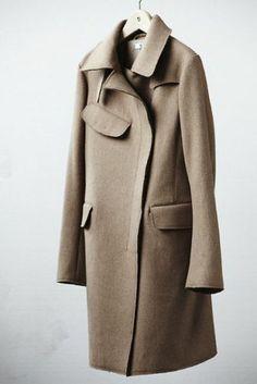 Jil Sander +j Uniqlo Sand/Camel Wool Blend Coat Size M UK12 A.P.C. Acne Howell | eBay