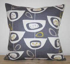 "JOHN LEWIS 'Seedhead' Fabric Cushion Cover in Grey - 16"" - Retro Scandi - New £14.50 fabric cushion, cushion covers, cushions, curtain fabric, 1450, grey, live room, john lewis, lewi seedhead"