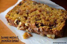 Honey Walnut Pumpkin Bread – Made Over walnut pumpkin, food, pumpkins, pumpkin bread, breads, honey walnut, recip, pumpkin walnut, walnut bread
