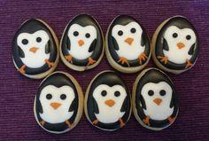 One dozen mini delicious penguin sugar cookies by jaynessugarshack, $9.00