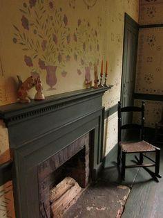 Abner Richmond Tavern in Westford, CT.  Like the black interior paint trim.