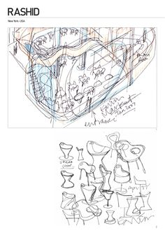 Designer Karim Rashid's doodles.