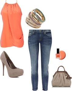 Coral, created by starrynight3 on Polyvore