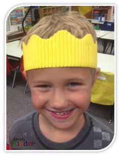 Not sure what to do with all those old borders?  Make hats!  Kids love them!  (I now collect old bulletin board strips from people to use for this!)