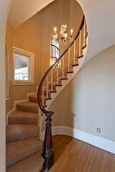 Staircase   William G Smith House    1894 Victorian  Davenport, Iowa