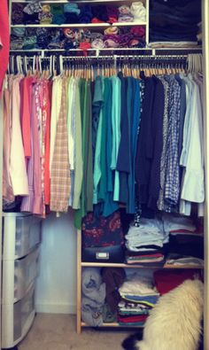 Realistic closet organization ideas from Literate and Stylish