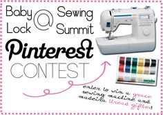 Attention @Sewing Summit attendees! Enter to win a @Baby Lock Grace sewing machine and Madeira Thread giftbox!