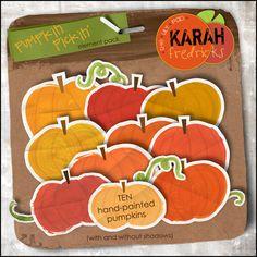 Pumpkin Pickin' - element pack by Karah Fredricks ... Digital Scrapbooking
