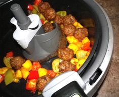 "Sweet And Sour Meatballs ""Actifry"" sour meatbal, sweet, food, actifri recip, meatbal actifri, tfal actifri"