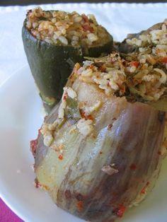 Stuffed Eggplants and Zucchinis