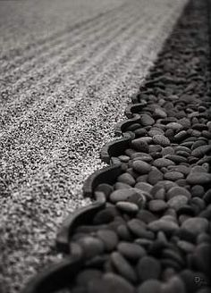 Order and shape an important in Japanese  rock garden.