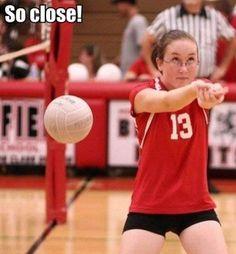 yet so far away! #volleyball #volleyballhumor