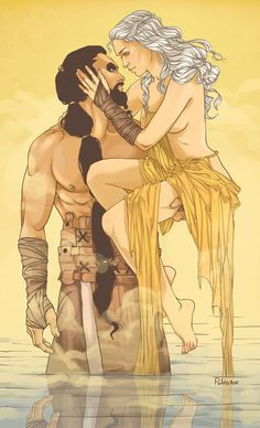 Game of Thrones Khal and Khaleesi Art Print