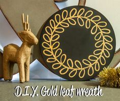Crafted: D.I.Y. Gold leaf wreath