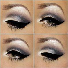 Dramatic glamorous eye makeup