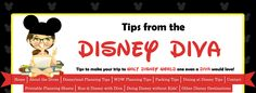 Tips from the Disney Diva: Beginnings - 6 month planning schedule for your next Disney Vacation.