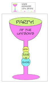 Invitations1custom designed to fit your party with adorable matching address labels