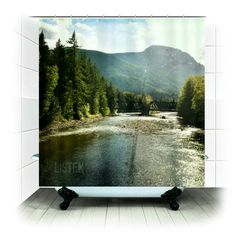 Fabric Shower Curtain   Listen  Photography bathroom by RDelean, $60.00